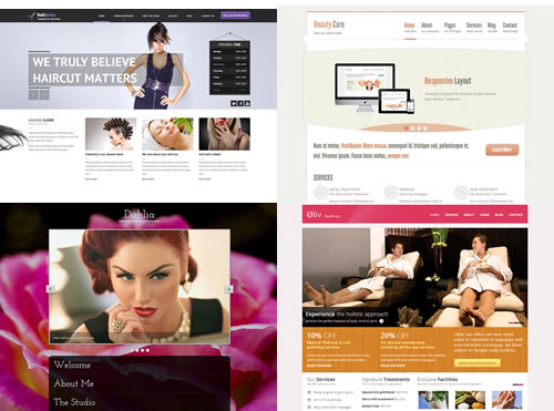 responsive salon website themes